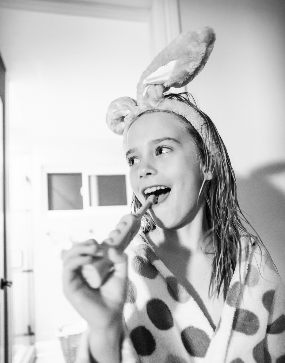 Brushing Teeth Bunny Ears